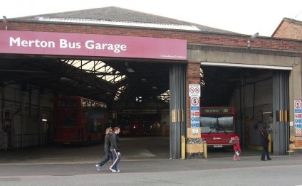 Bus garage Colliers Wood