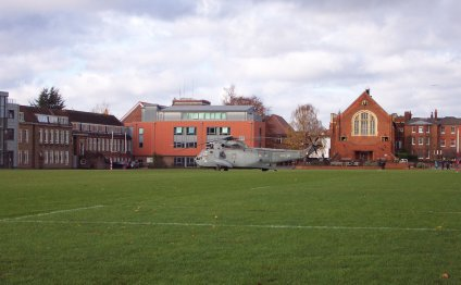 Helicopter visits Kings