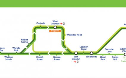 Tram network map