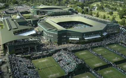 An Ariel Shot of the Wimbledon