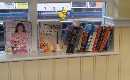 Books at Wimbledon station