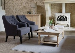 more cost effective: The Amelia linen seat by Neptune is sold for a reduced price within their factory store in Swindon