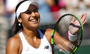 Heather Watson overcame soaring temperatures to conquer Caroline Garcia.