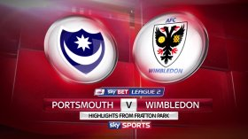 shows from Fratton Park in Sky Bet League Two where Portsmouth hosted AFC Wimbledon
