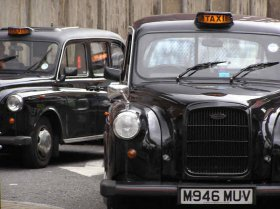 London black colored taxi taxi