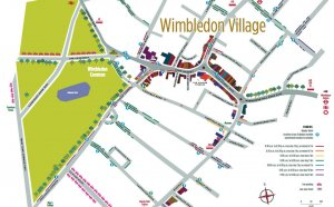 Map of Wimbledon Village