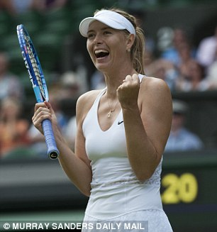 Ruled out: Tennis celebrity Maria Sharapova during Wimbledon 2015