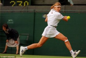 anyone to research to: 22-time Grand Slam singles winner Steffi Graf is one of Pironkova's idols