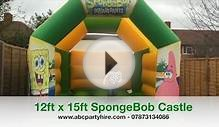 12ft x 15ft SpongeBob SquarePants Bouncy Castle Hire