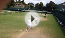 Andy Murray and Amelie Mauresmo Wimbledon 2014 Tennis Training