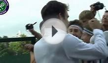 Fans go crazy for Roger Federer at Wimbledon 2013
