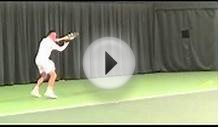 Footballer Graeme Le Saux plays tennis at Wimbledon