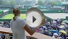 Kvitova shows off trophy on the balcony - Wimbledon 2014
