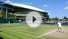 Novak Djokovic Training-Court Level View @ Wimbledon 2014