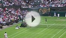 Wimbledon 2013 - Roger Federer holds serve against Sergiy